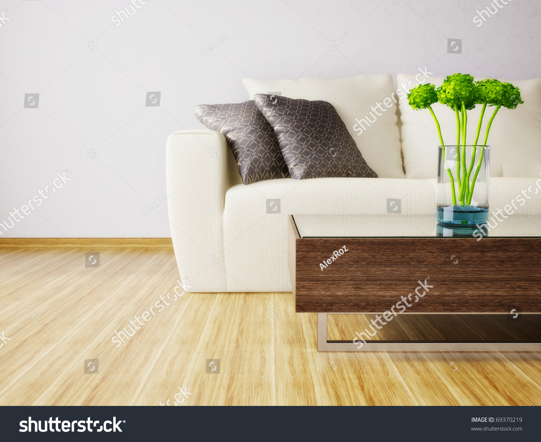 Modern Interior Room Nice Furniture Inside Stock