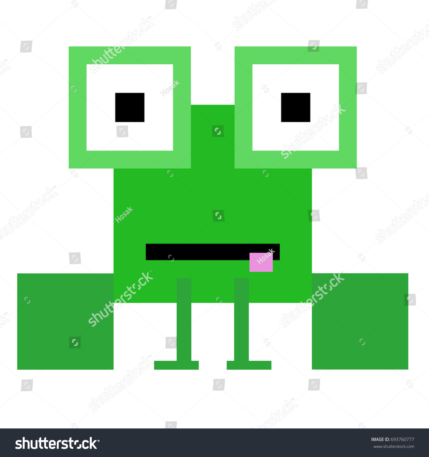 Vector frog made squares rectangles stock vector 693760777 vector frog are made of squares and rectangles biocorpaavc Gallery