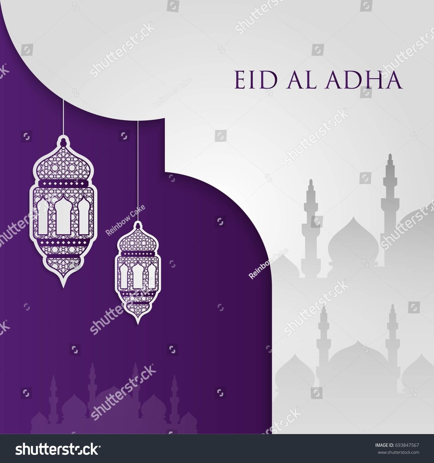 Eid Mubarak Eid Al Adha Template Stock Vector Royalty Free 693847567