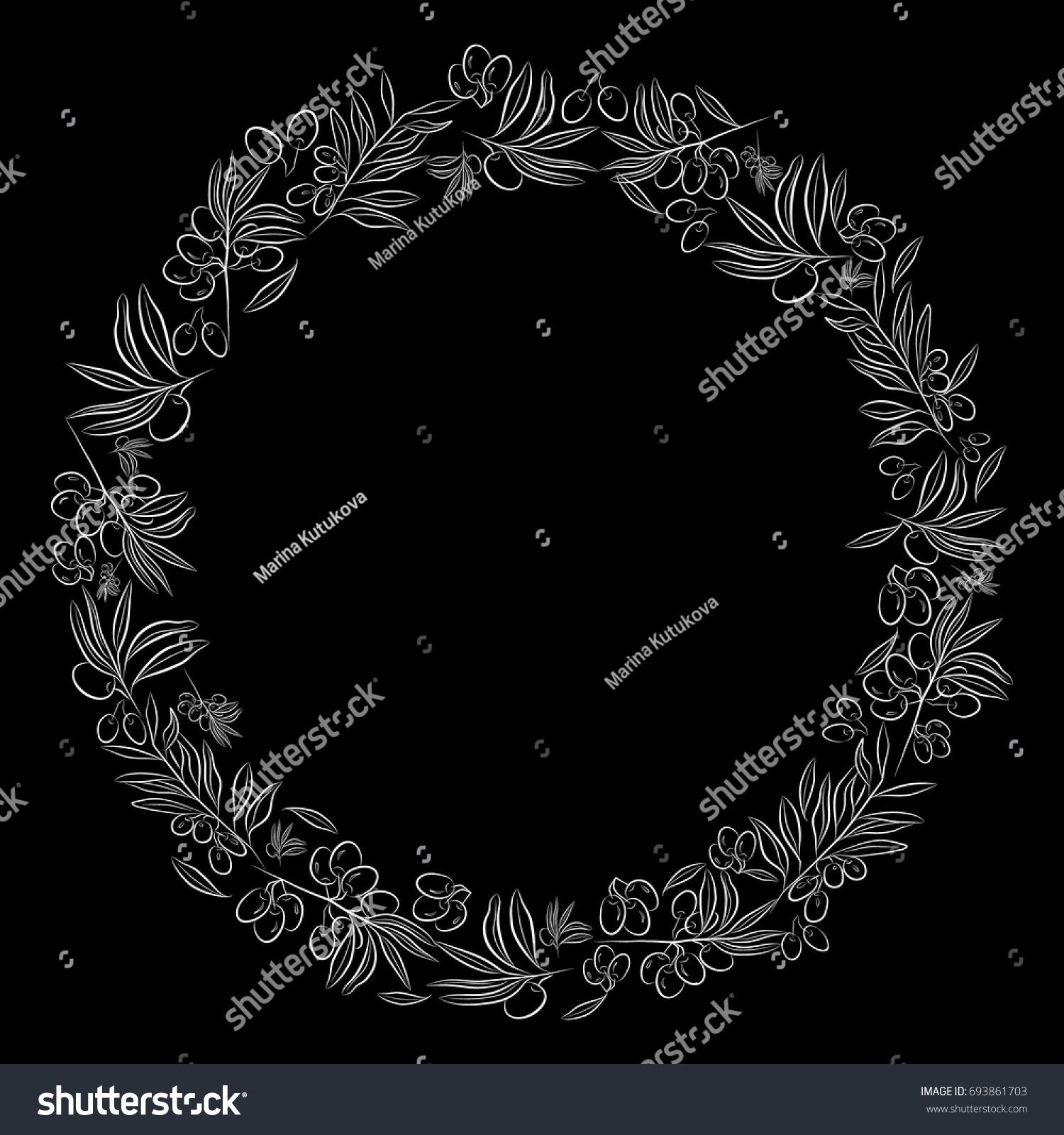 Round frame olive tree symbol eternal stock vector 693861703 olive tree as a symbol of eternal peace in christian religion buycottarizona Choice Image