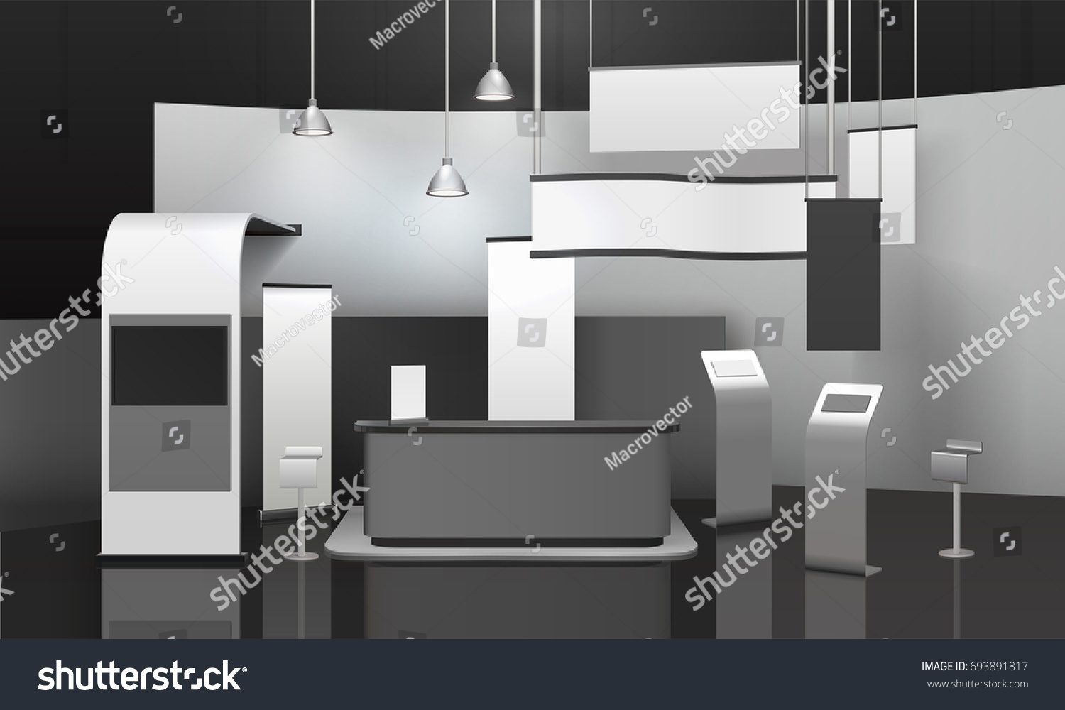Exhibition Stand Advertising : Advertising exhibition stand d mockup counter stock