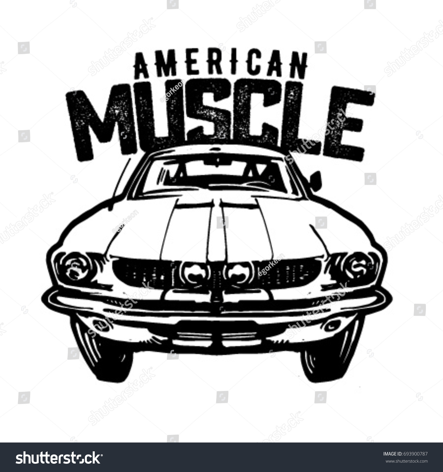American Muscle Car Logo Vector Isolated Stock Vector Royalty Free