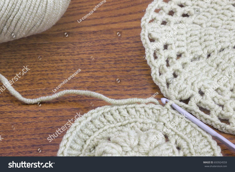 Crochet Doily Coaster Handmade Crochet Doily Stock Photo 693924559 ...