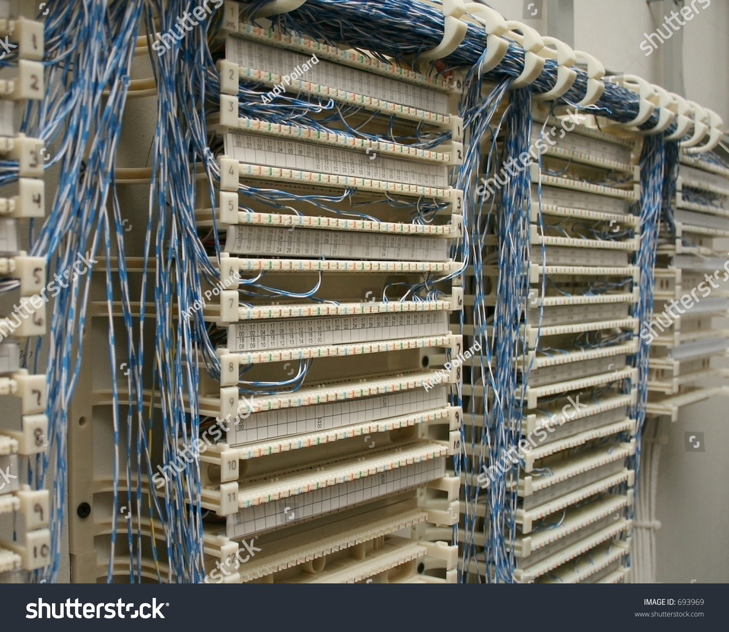 Punch Down Block Wiring Reinvent Your Diagram 110 Phone Closet Stock Photo Edit Now 693969 Rh Shutterstock Com 66 Ethernet