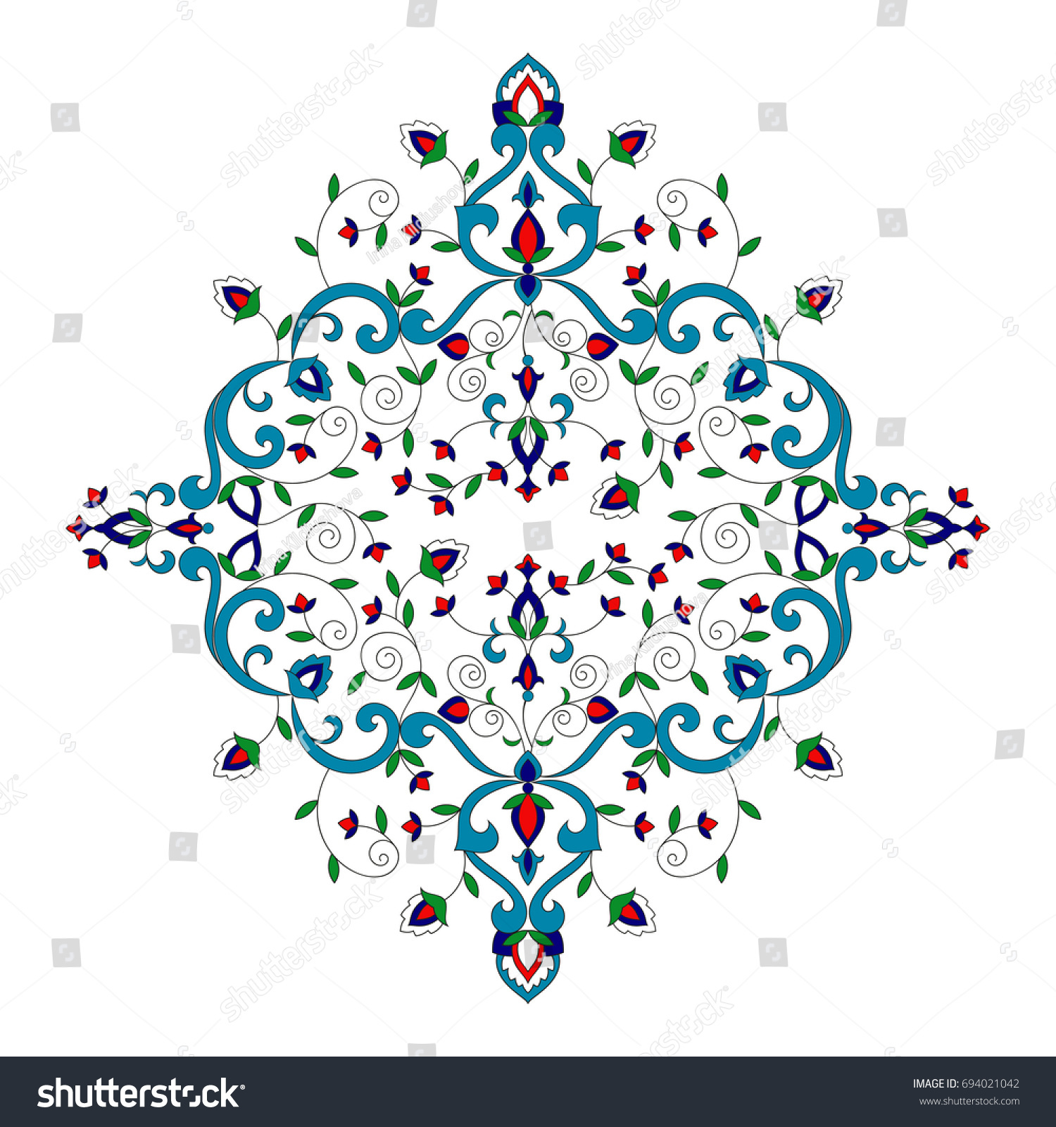 Floral Pattern Vector Element Vintage Spa Stock Vector Royalty Free