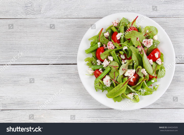 Pleasing Delicious Healthy Low Calories Salad Green Stock Photo Edit Interior Design Ideas Clesiryabchikinfo