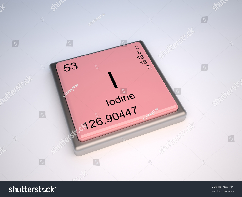 Iodine chemical element periodic table symbol stock illustration iodine chemical element of the periodic table with symbol i gamestrikefo Choice Image
