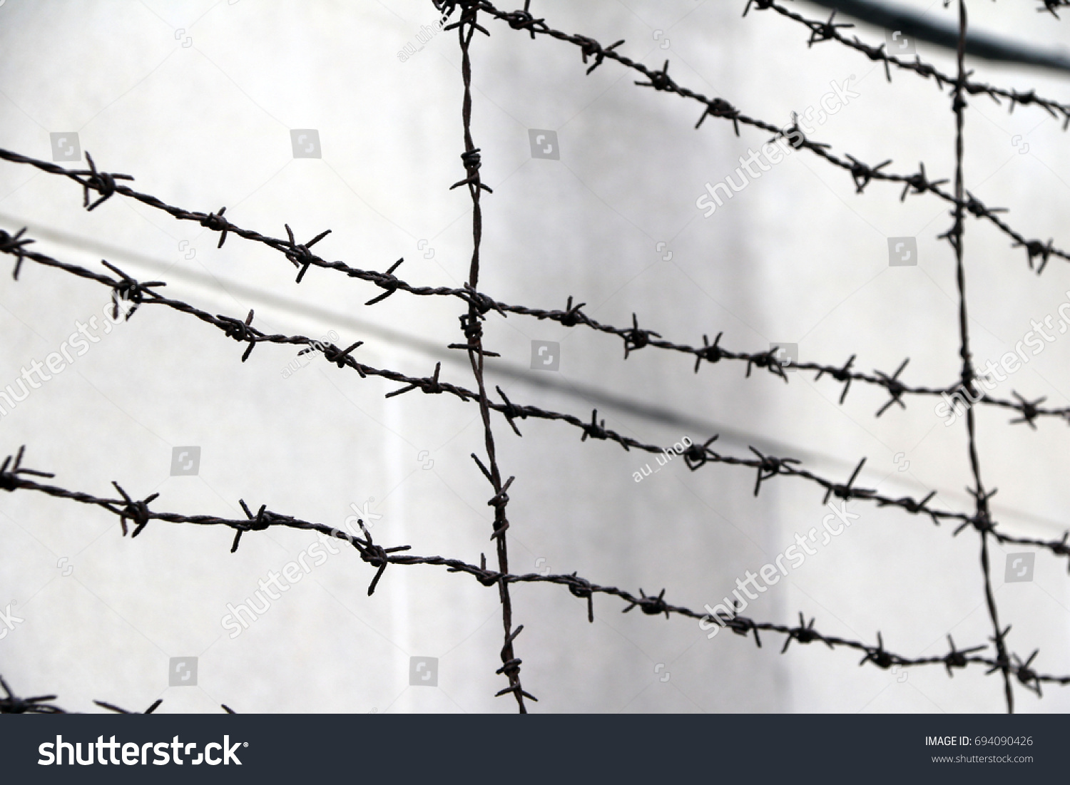 Rusty Barbed Wire Isolated On Out Stock Photo 694090426 - Shutterstock