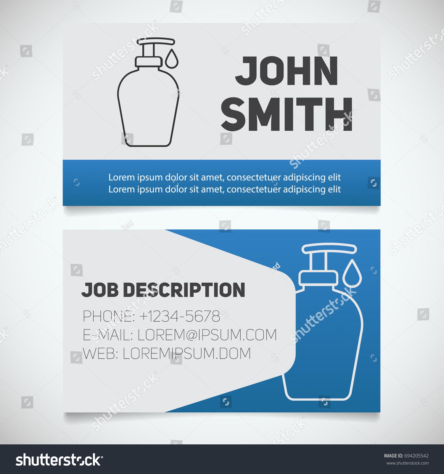 Business Card Print Template Liquid Soap Stock Illustration ...