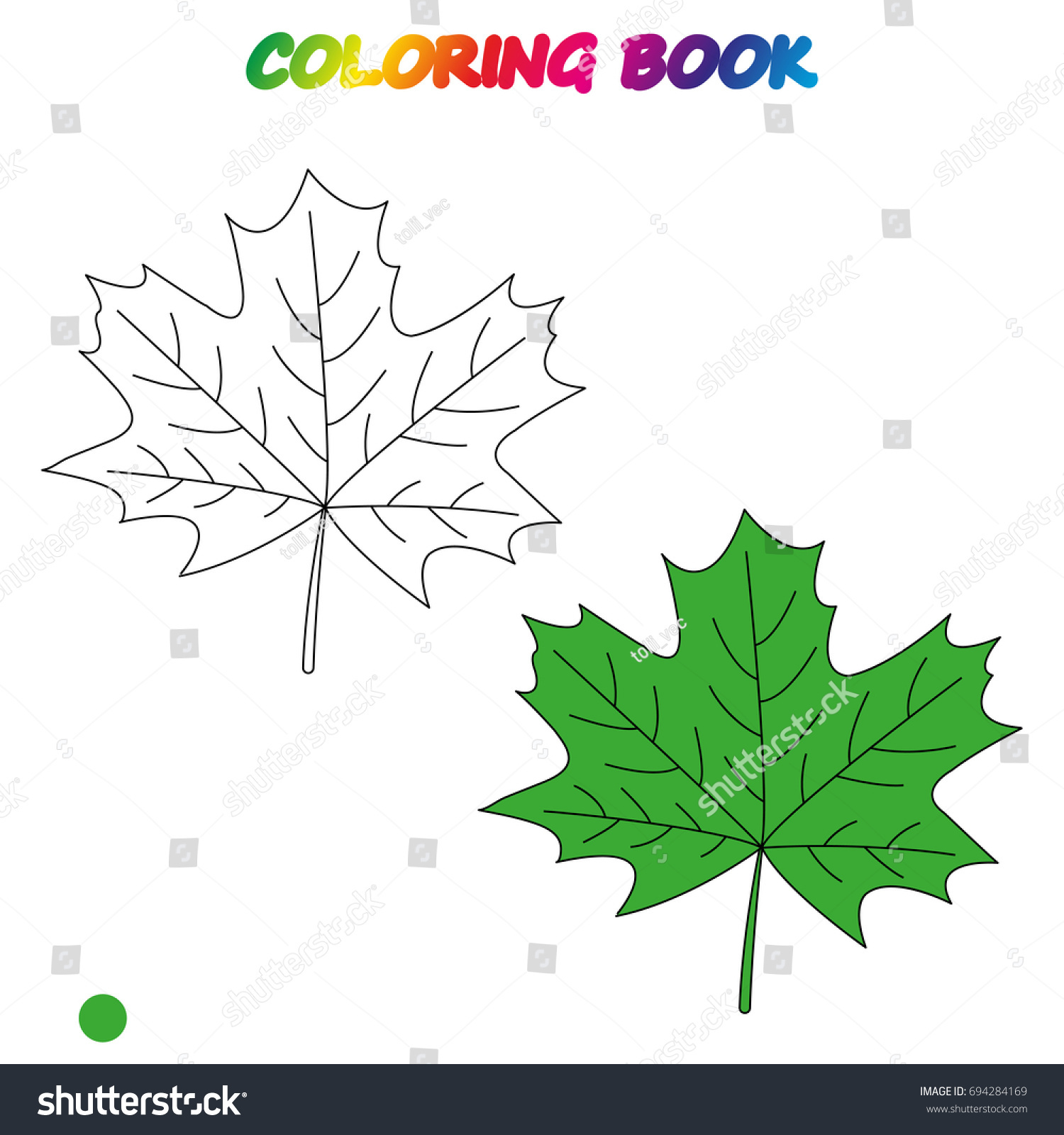 - Maple Leaf Coloring Book Coloring Page Stock Vector (Royalty Free