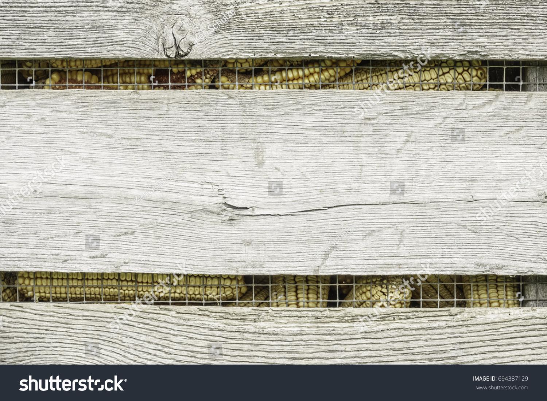 Detail Corn Crib On Living History Stock Photo (Royalty Free ...