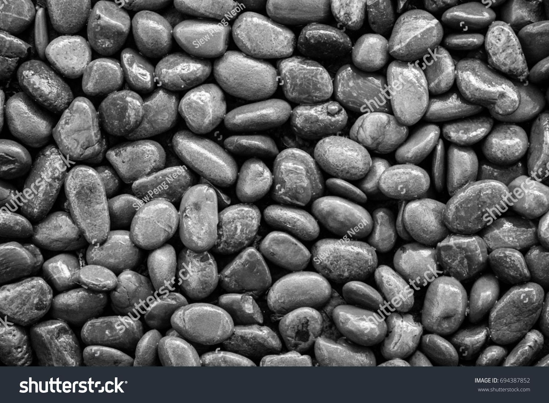 Black White Landscape Wallpaper Pebbles Odd Stock Photo Edit Now