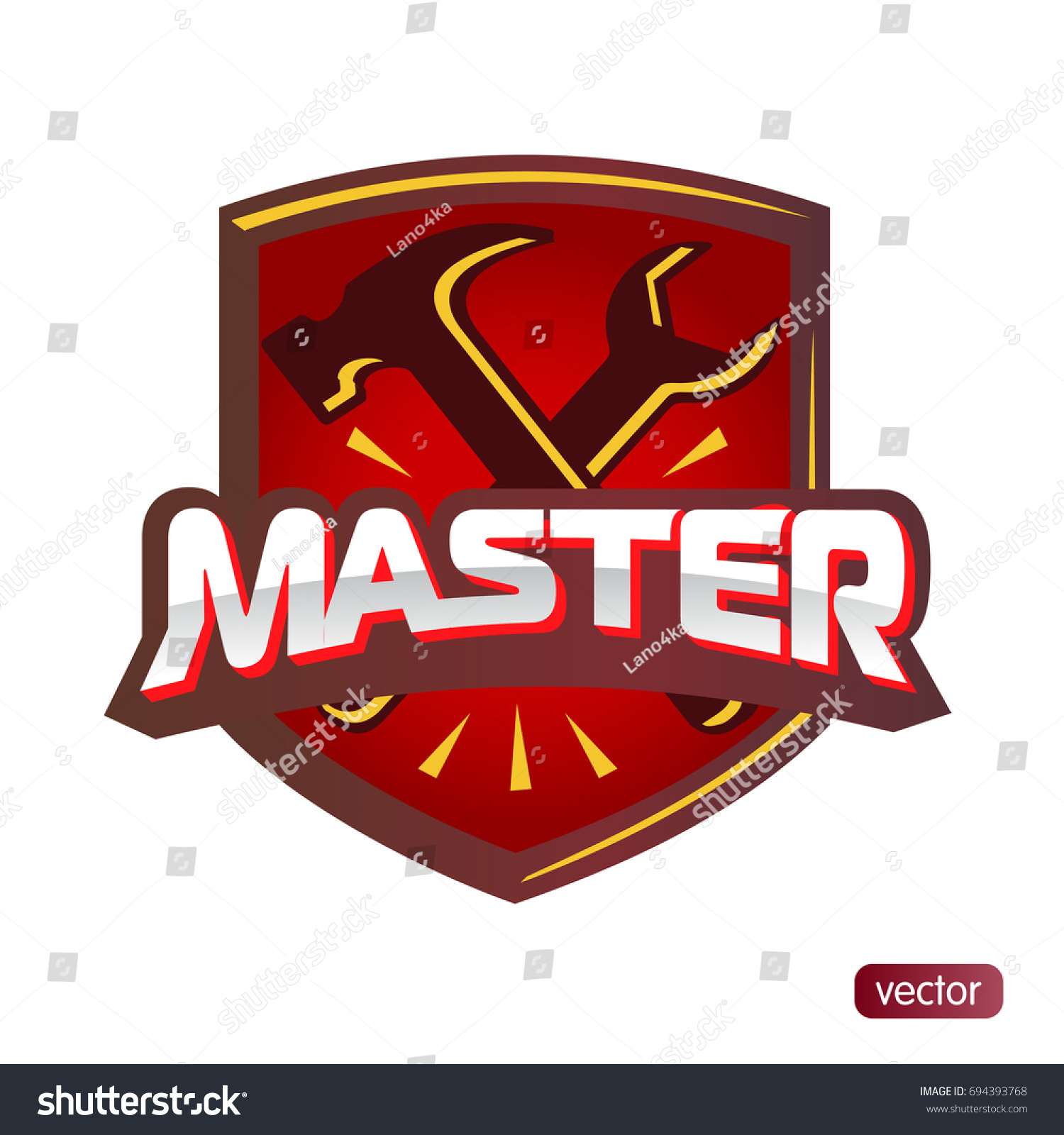 Logo master lettering brand symbol service stock vector 694393768 logo master lettering brand symbol service mark isolated on white background vector illustration biocorpaavc Image collections