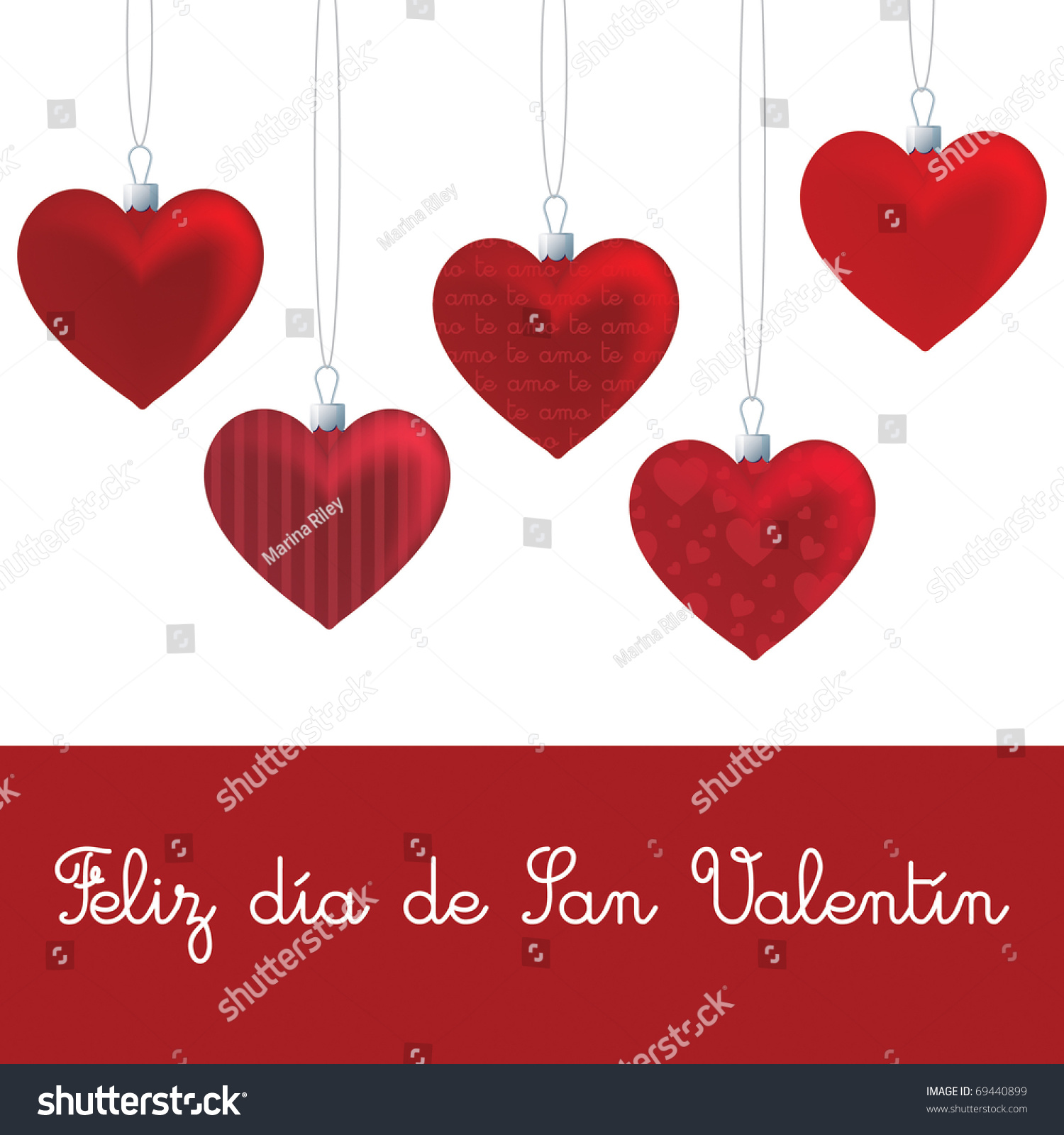 Valentines Day Card Template Vector 69440899 Shutterstock – Valentines Card Template