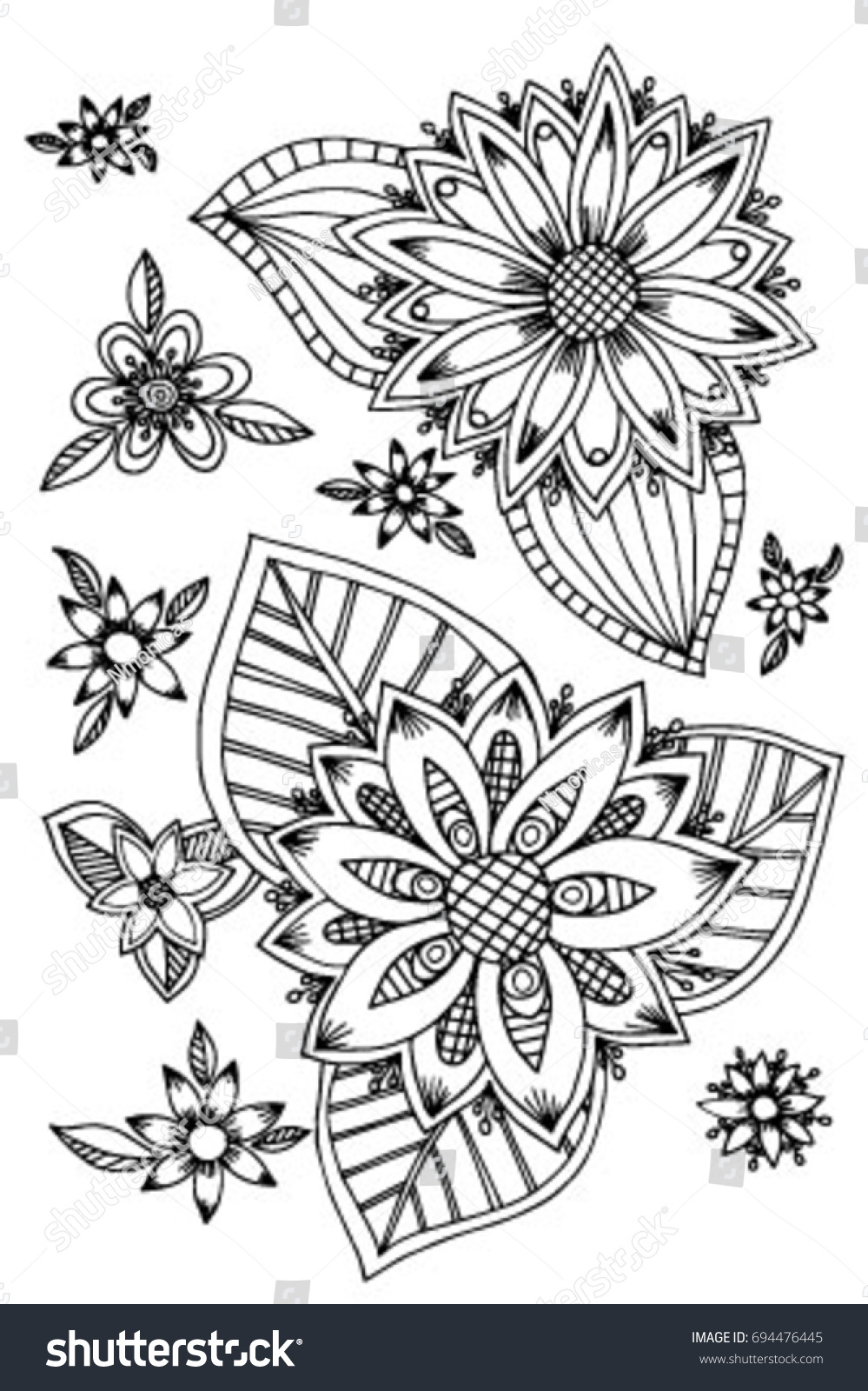 Coloring Page For Adults Flowers