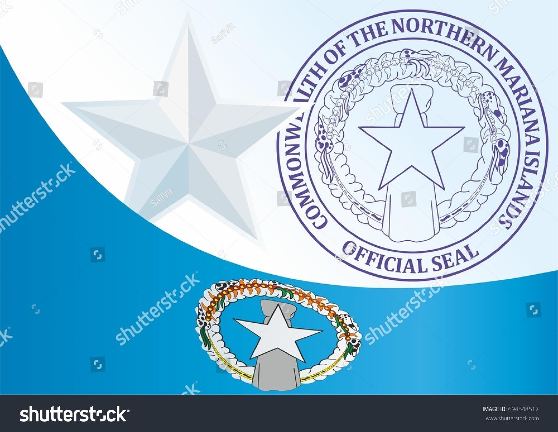 Flag Northern Mariana Islands Commonwealth Northern Stock Vector