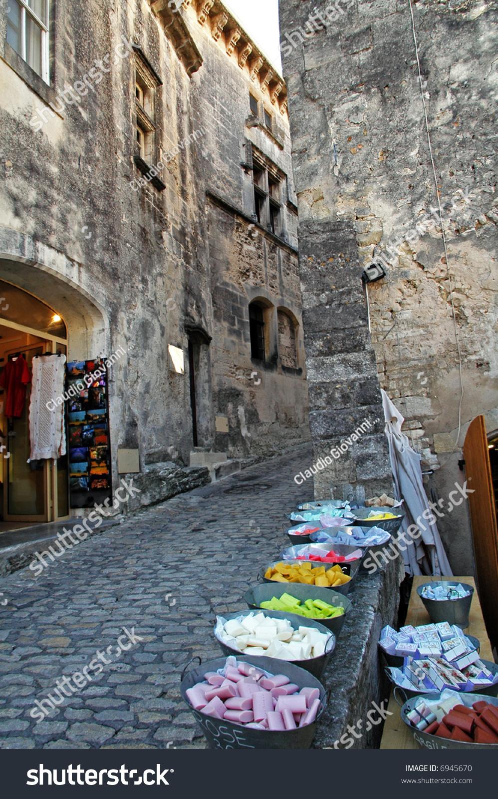Les Baux-de-Provence France  City pictures : Les Baux De Provence France Selling Soap In The Ancient Town Stock ...
