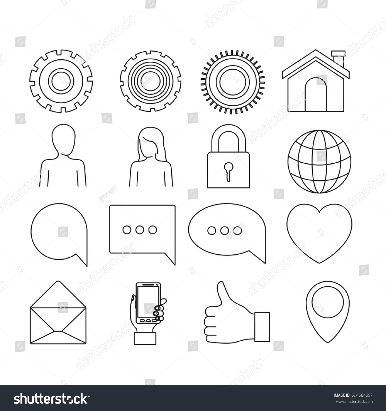white background silhouette tech share icons stock vector royalty ID Technology white background of silhouette tech share icons elements vector illustration