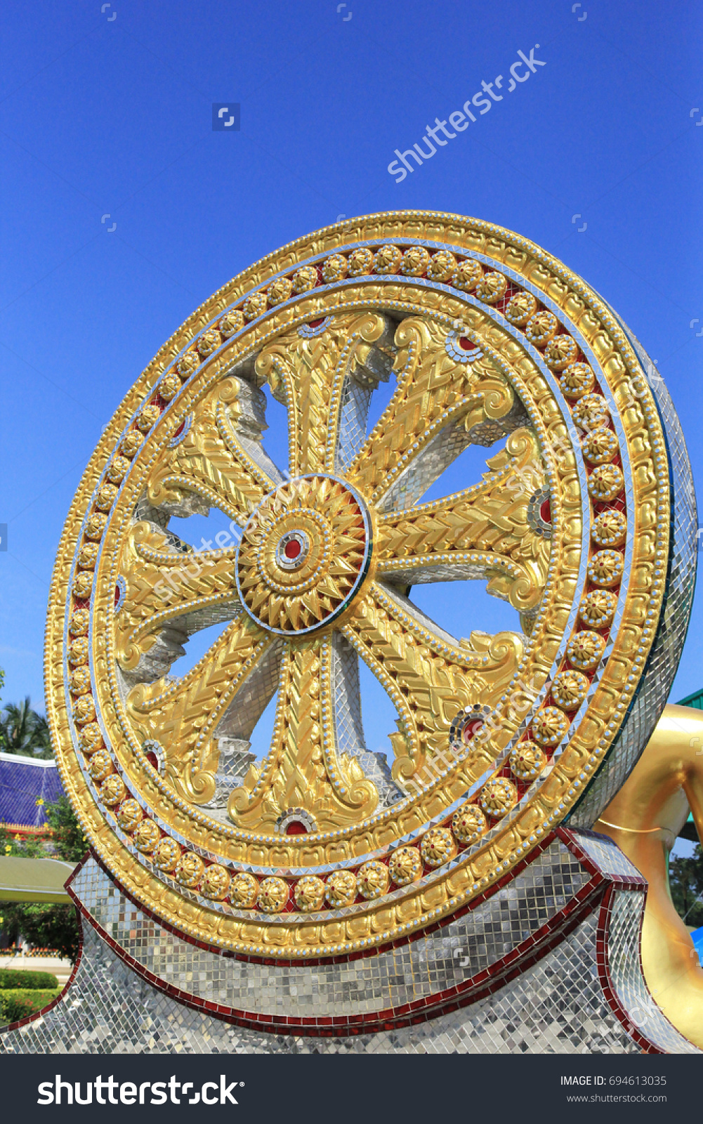 Wheel life symbol which mention about stock photo 694613035 wheel of life is a symbol which mention about rebirth and death in buddhism this buycottarizona Gallery