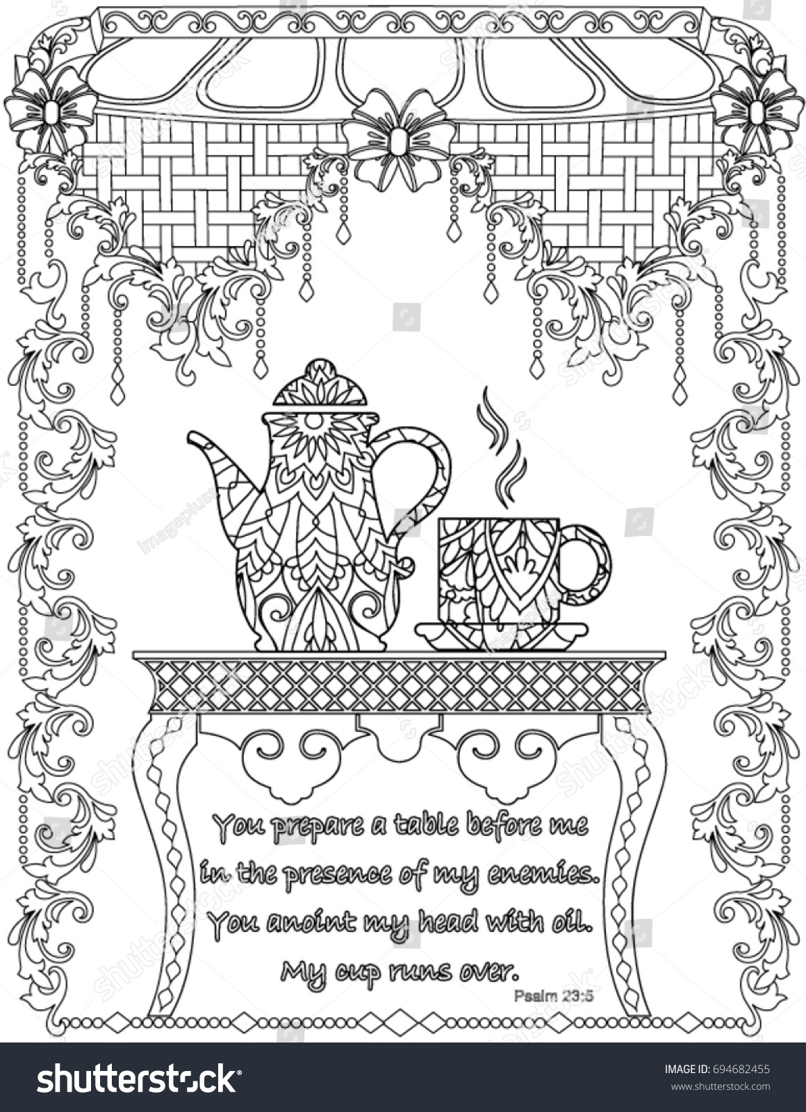 Bible Verses Coloring Book Page Stock Vector Royalty Free