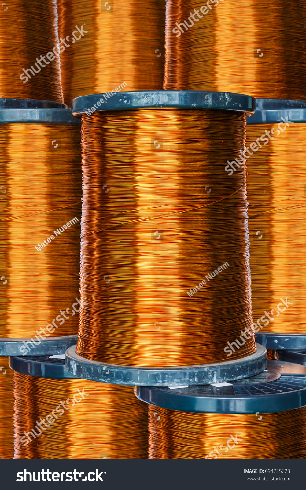 Pile Round Enameled Copper Wire Magnet Stock Photo (Edit Now ...