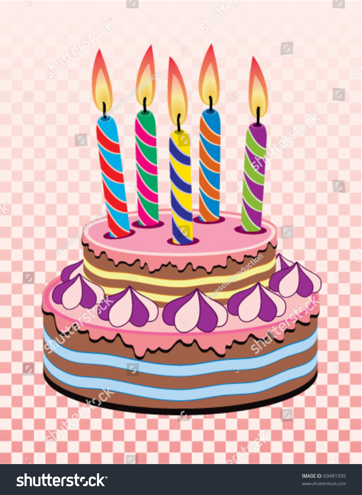 Peachy Vector Birthday Cake Burning Candles Stock Vector Royalty Free Funny Birthday Cards Online Elaedamsfinfo