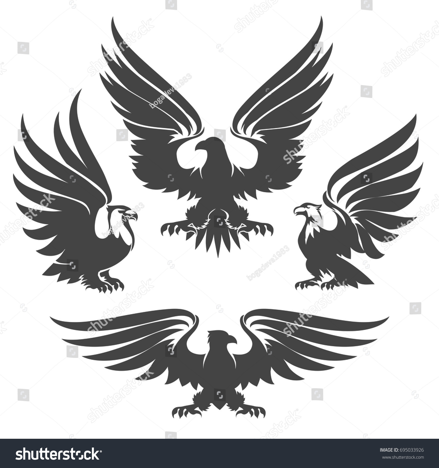 Native american eagle symbol tattoo images for tatouage native american eagle symbol tattoo for heraldry eagles hawks falcons drawn tattoo stock vector 695033926 buycottarizona