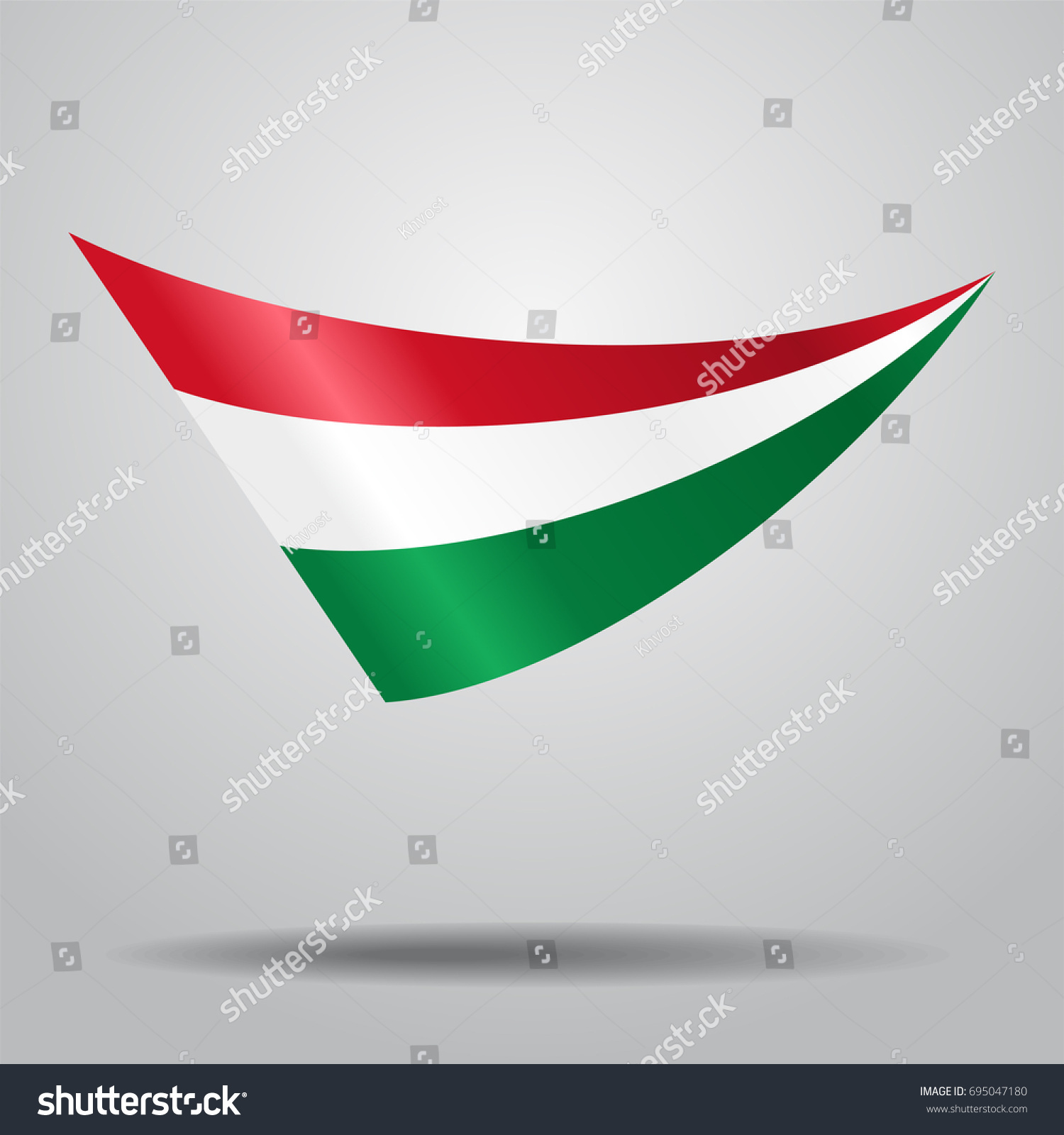 hungarian flag wavy abstract background vector stock vector