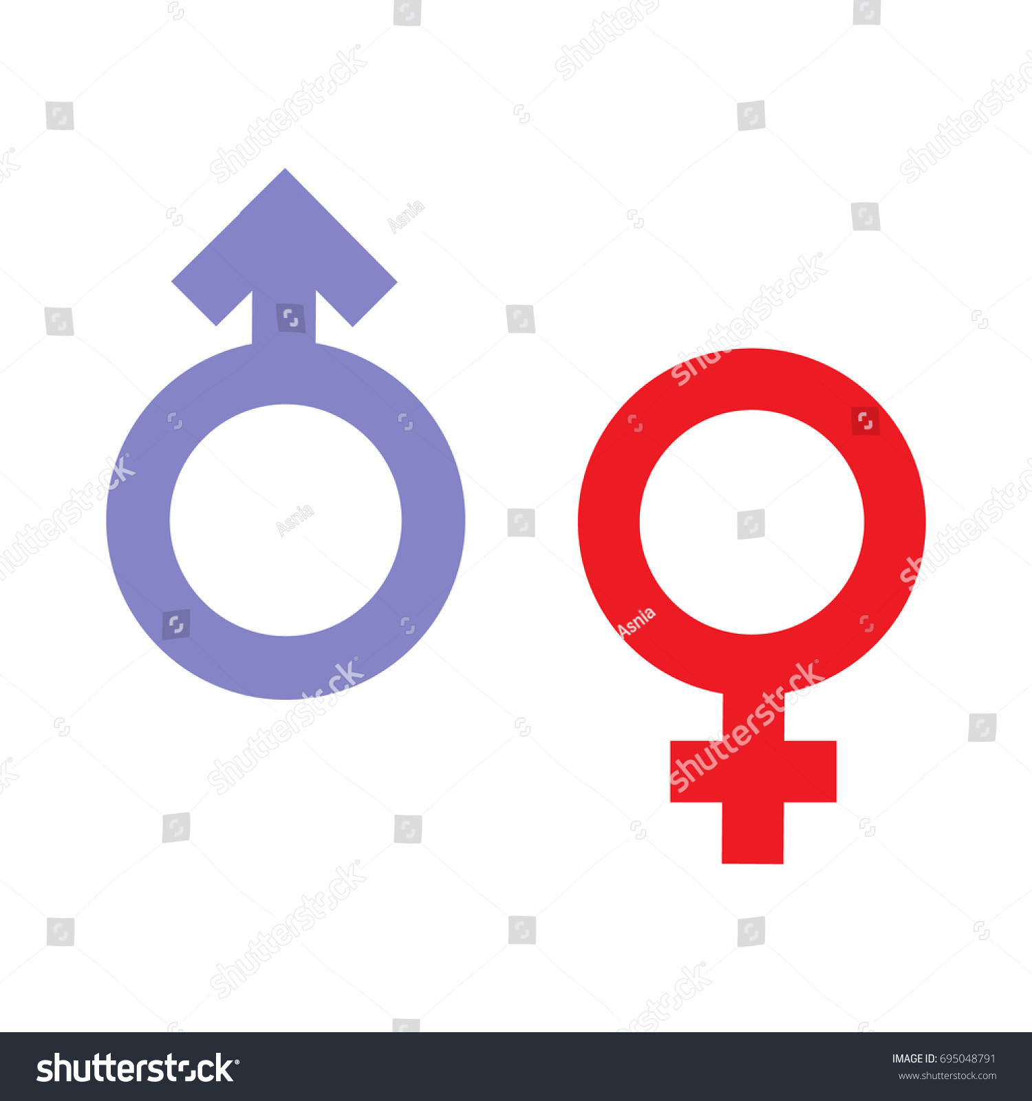 Gender Inequality Equality Icon Symbol Male Stock Illustration
