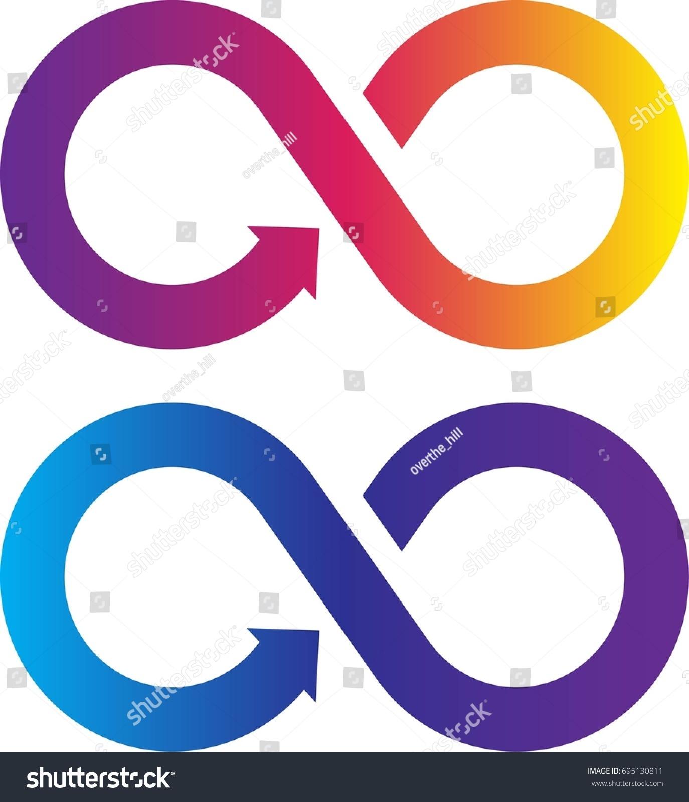 Infinity Symbol Color Gradient Vector Illustration Stock Vector