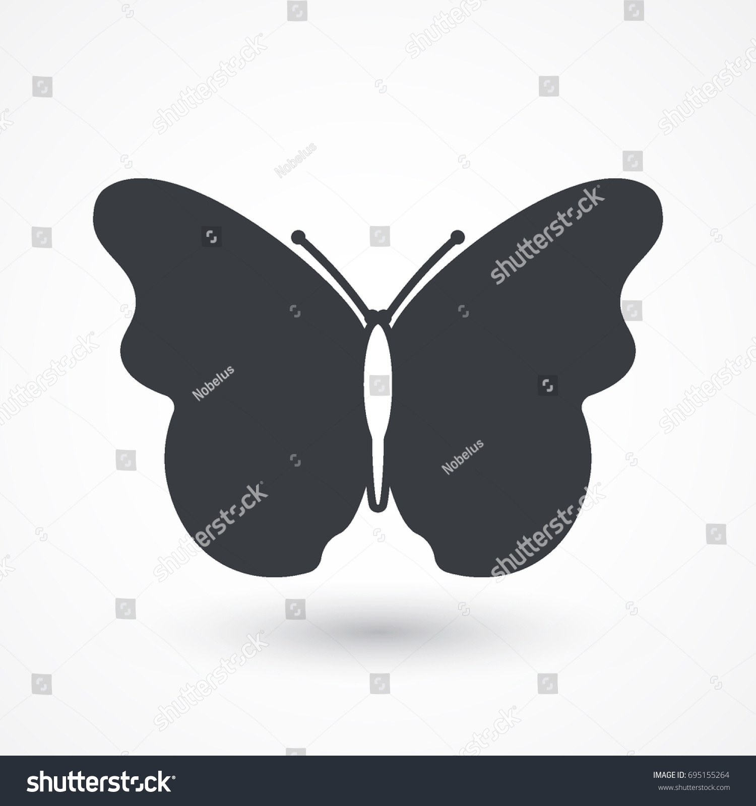 Butterfly vector icon beautiful insect sign stock vector 695155264 butterfly vector icon beautiful insect sign summer symbol logo graphic design concept biocorpaavc Image collections