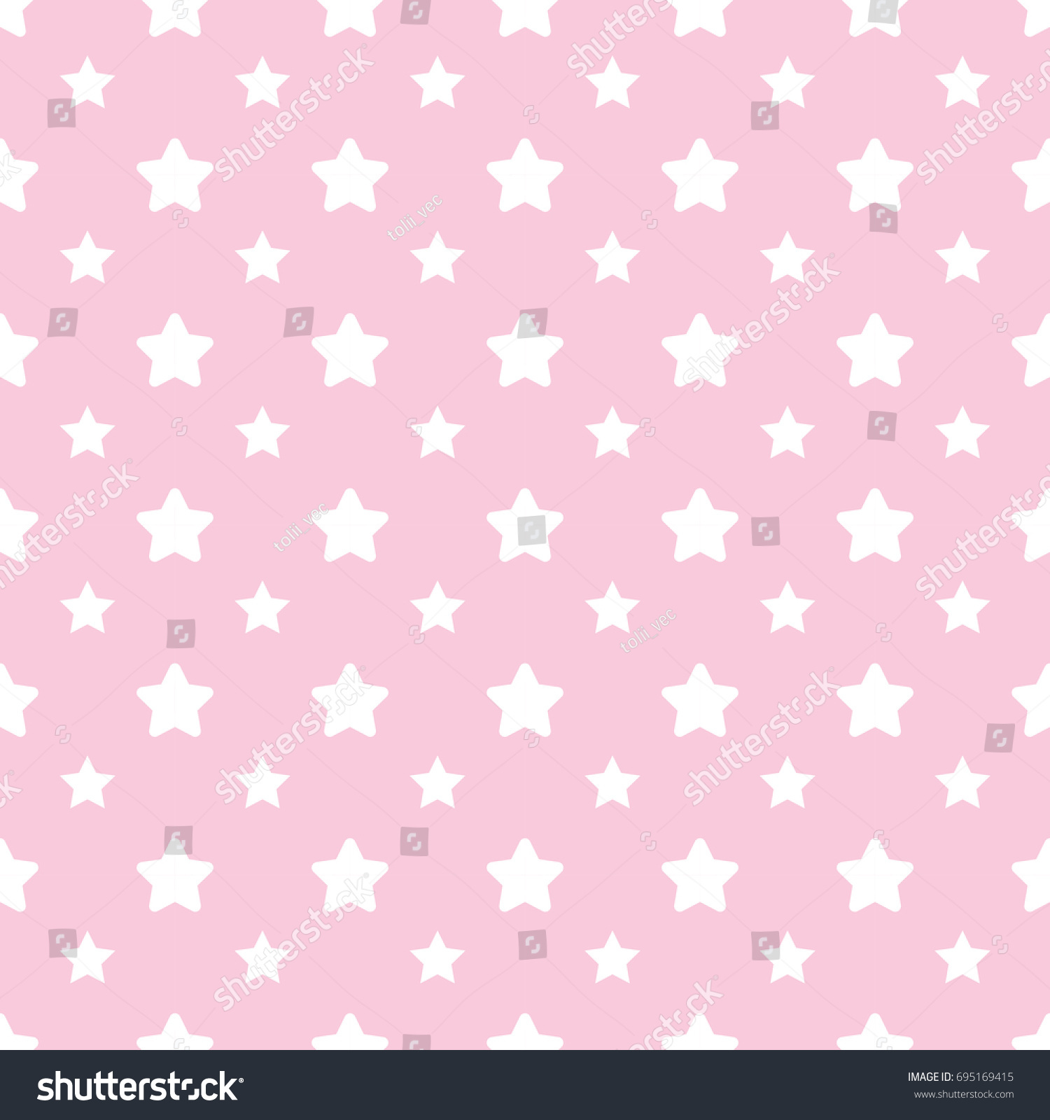 seamless pattern pastel pink baby background stock vector (royalty
