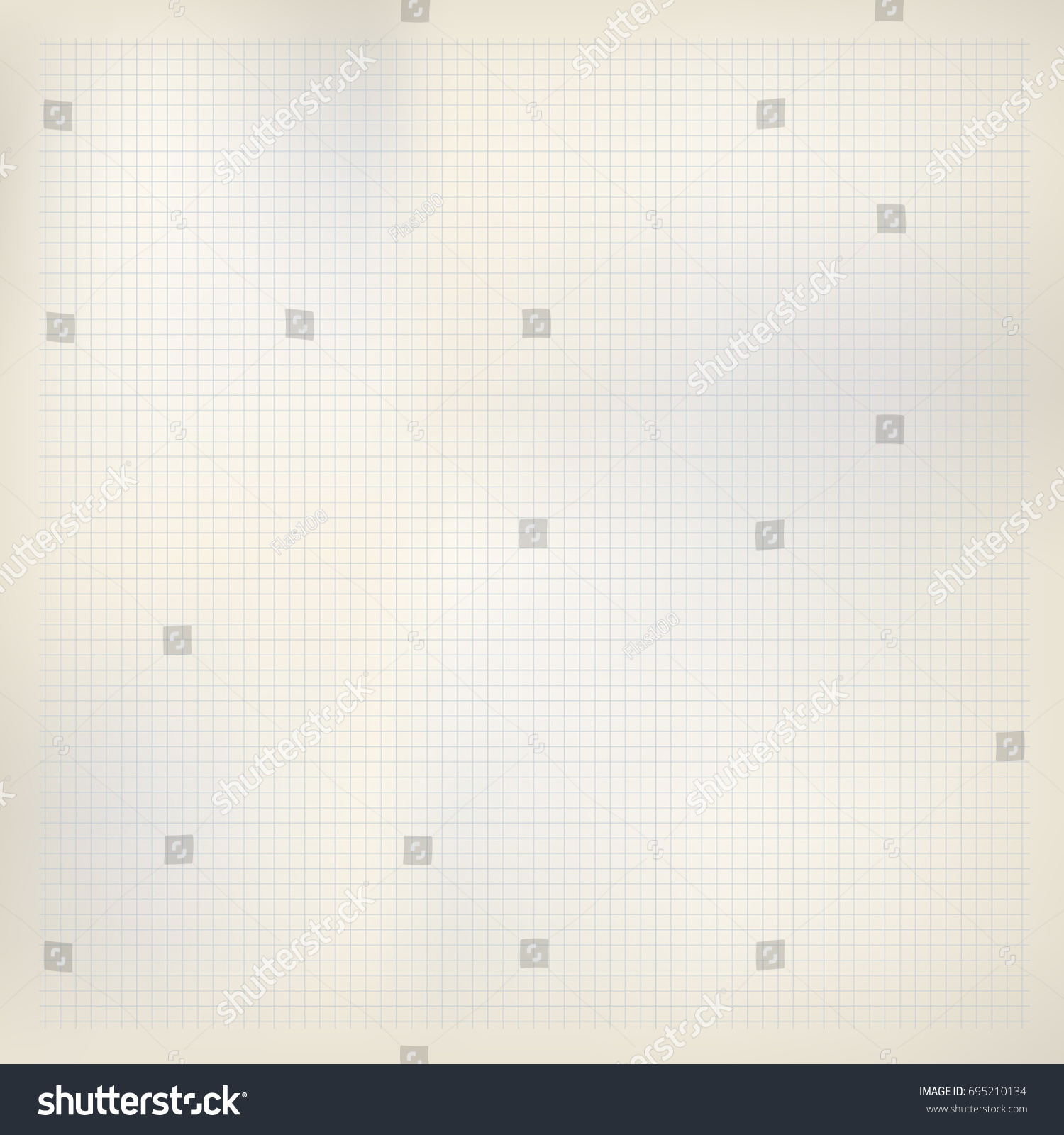 Beige Paper Blue Squares Math Grid Stock Vector 695210134 ...