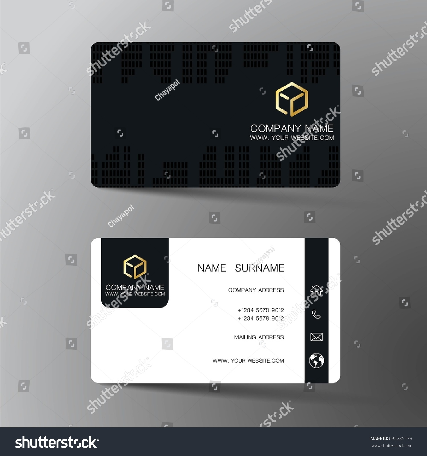 Business Card Inspired By Abstract Stock Vector