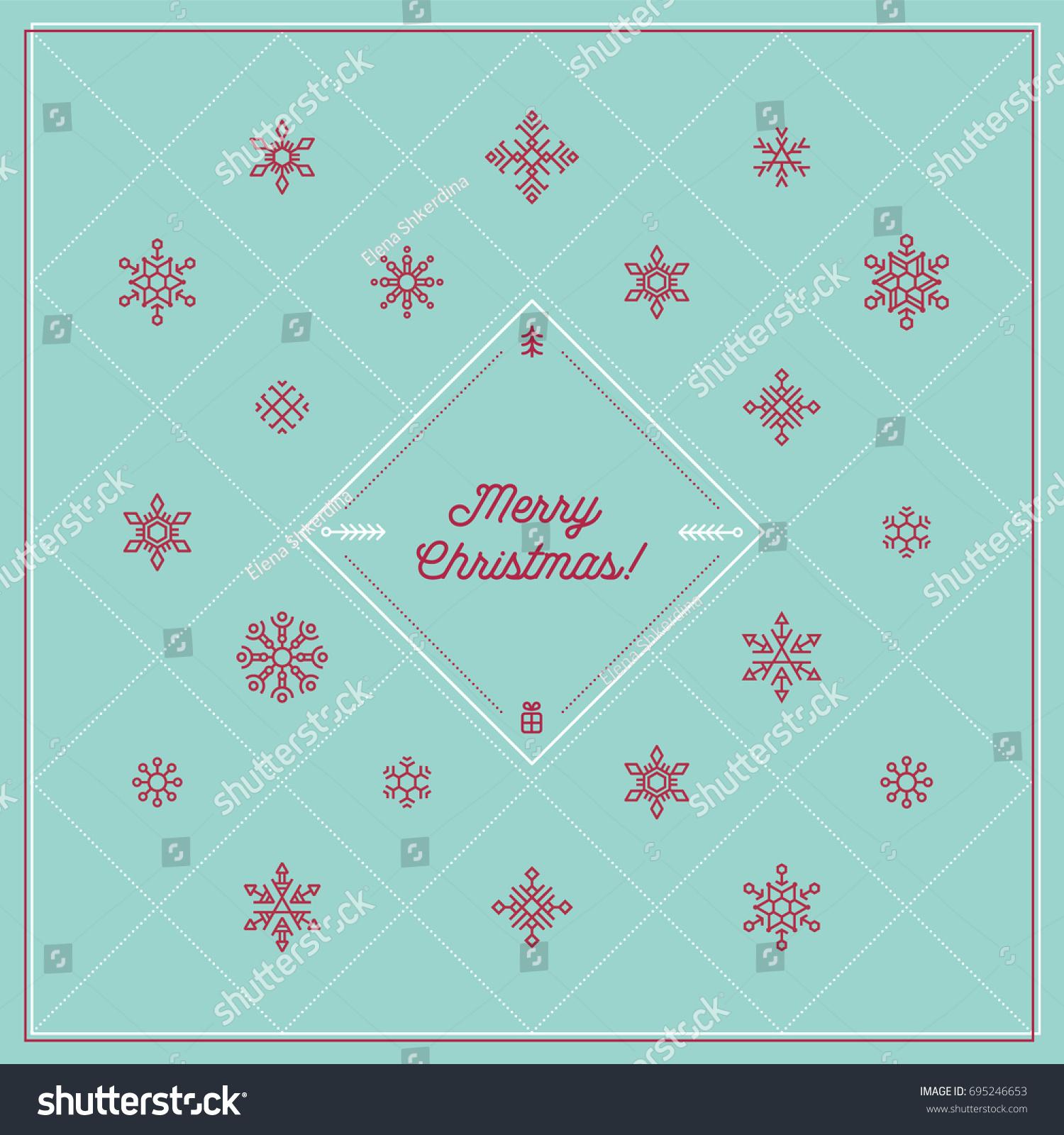Neat Corporative Greeting Christmas Card Motivating Stock