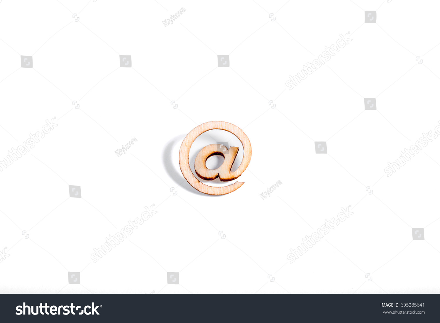 Wooden Sign Tree Branch On White Stock Photo 695285641 Shutterstock
