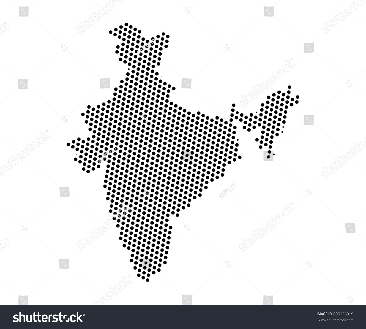Abstract map india dots planet lines stock vector 695326909 abstract map of india dots planet lines global world map halftone concept vector gumiabroncs Images