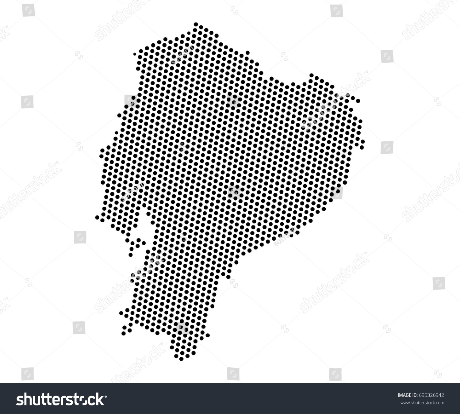 Abstract map ecuador dots planet lines vectores en stock 695326942 abstract map of ecuador dots planet lines global world map halftone concept vector gumiabroncs Choice Image