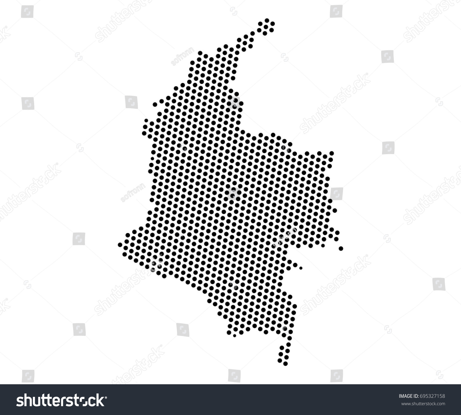 Abstract map colombia dots planet lines stock vector 695327158 abstract map of colombia dots planet lines global world map halftone concept vector gumiabroncs Images