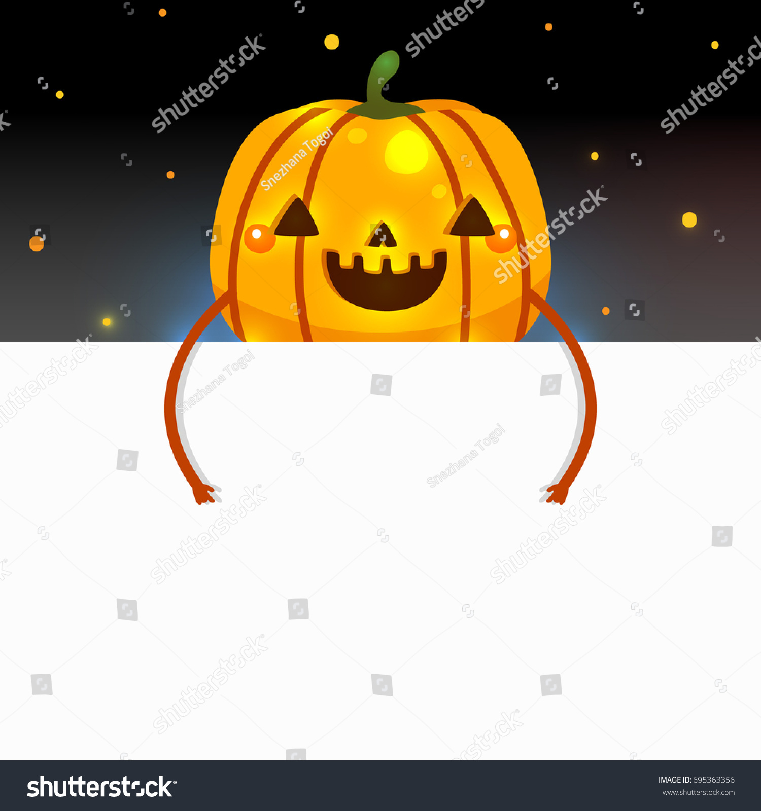 blank banner halloween pumpkin vector design stock vector royalty