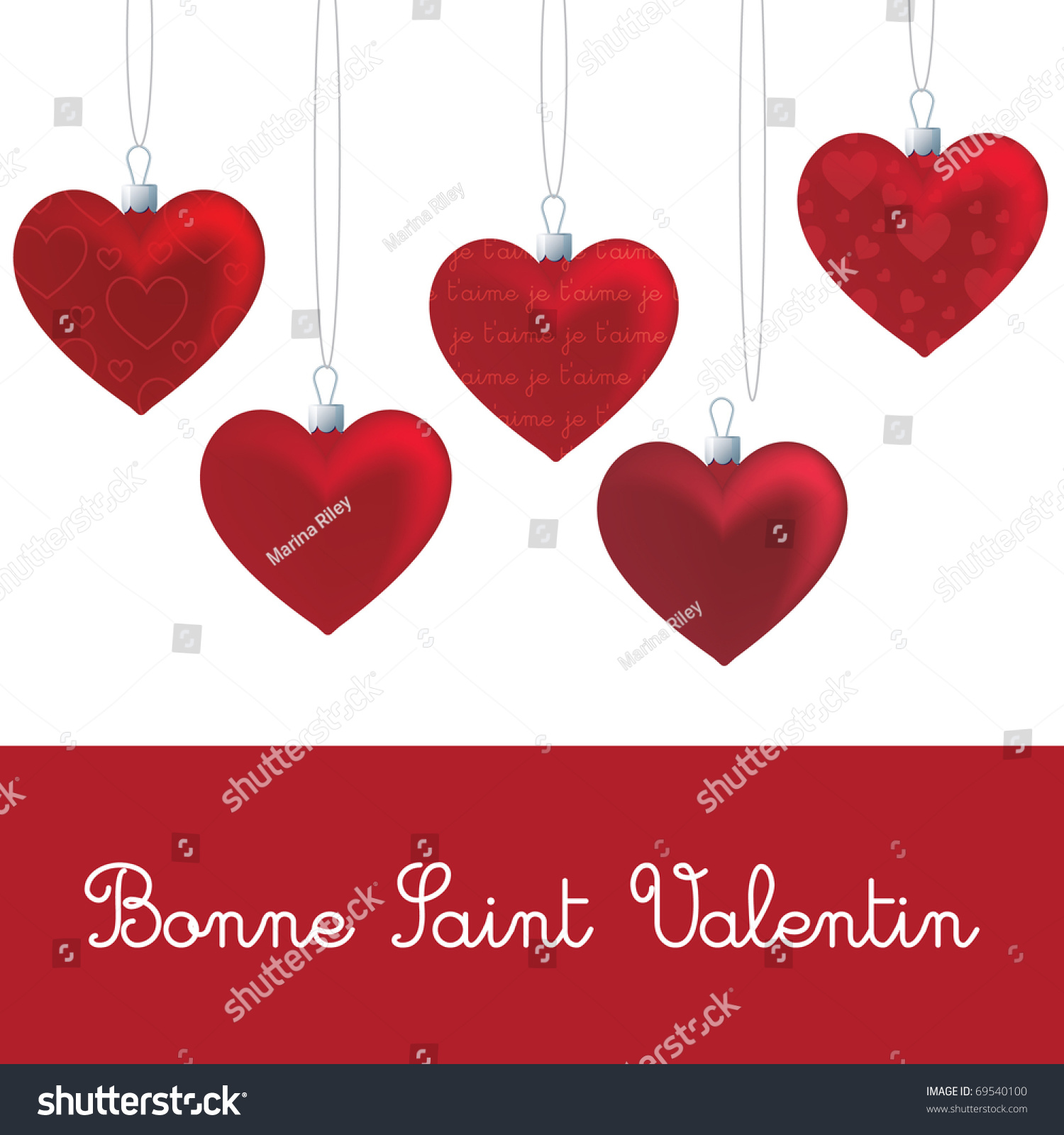 vector valentines day template in french - Valentines Day Template