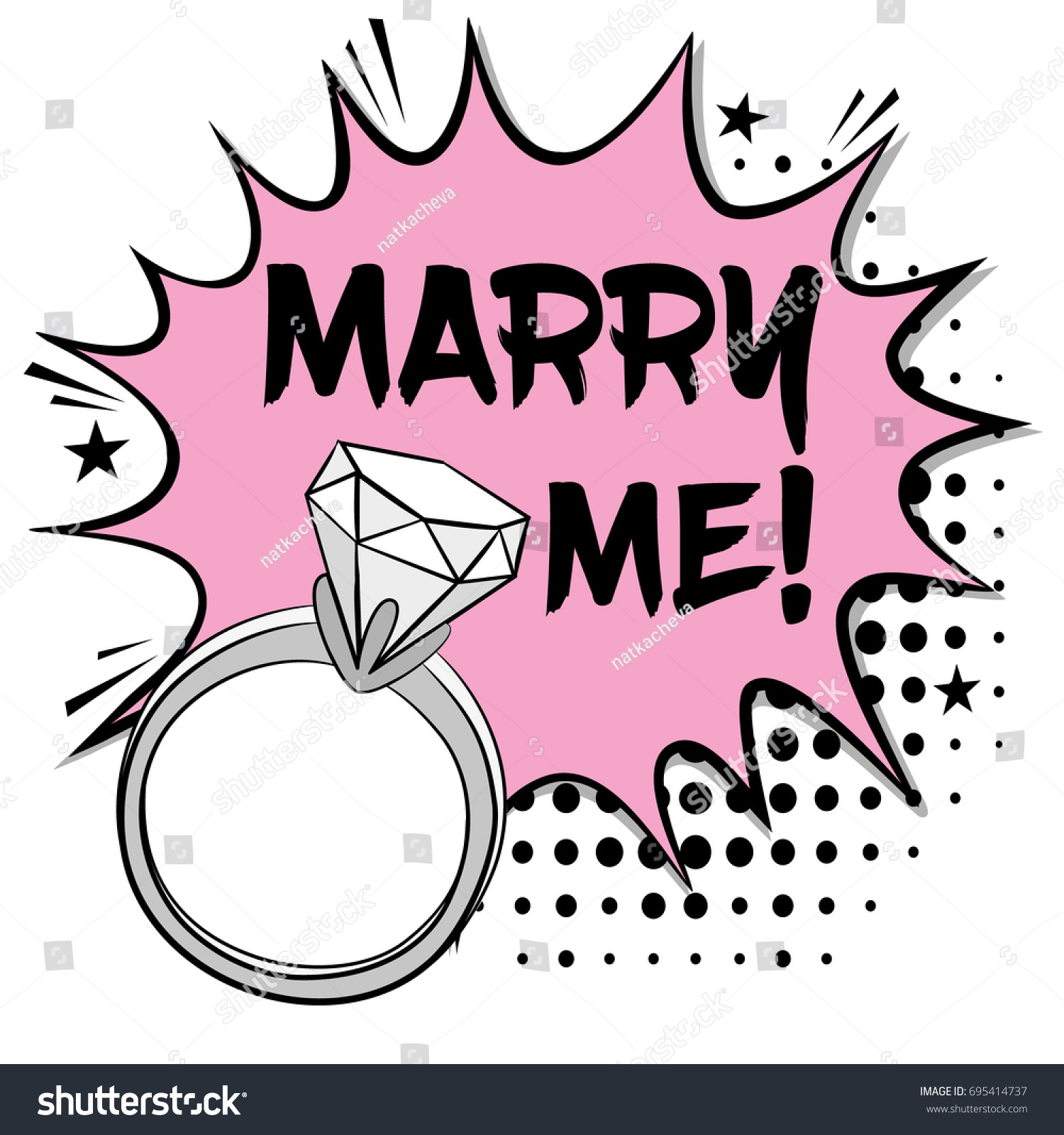 Pop Art Comics Icon Marry Me Stock Vector HD (Royalty Free ...