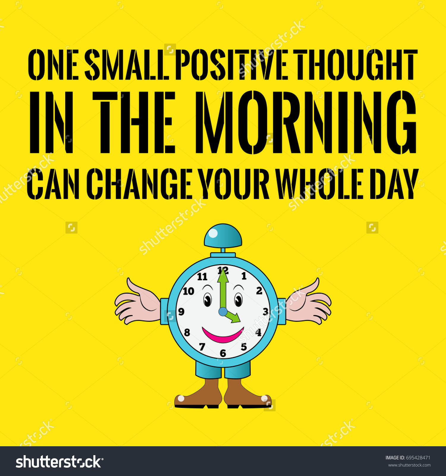 Thought Of The Day Motivational Motivational Quote One Small Positive Thought Stock Vector