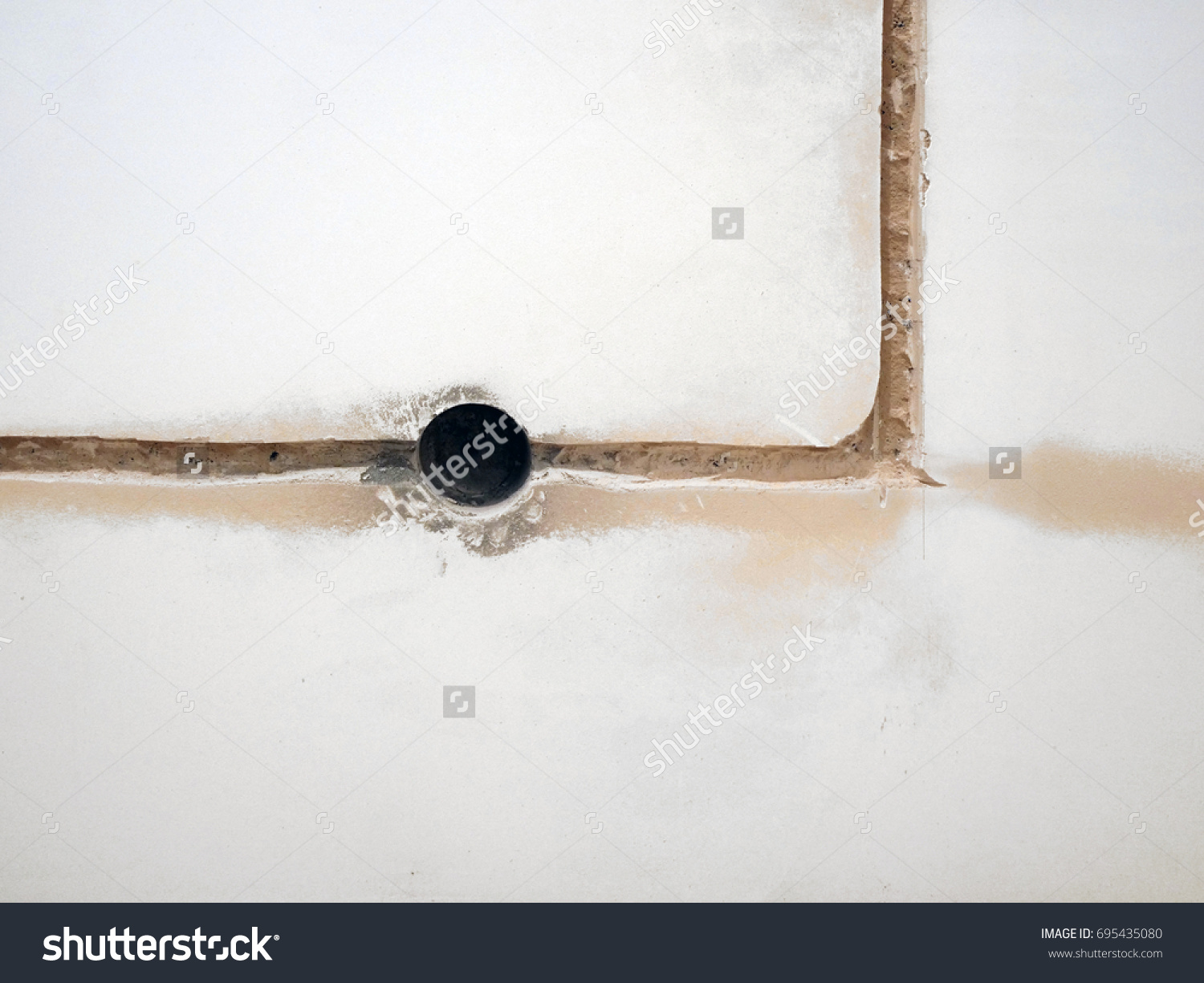 Closeup Wall Socket Electrician Exposed Wiring Stock Photo Edit Now A For With Electrical Sockets The
