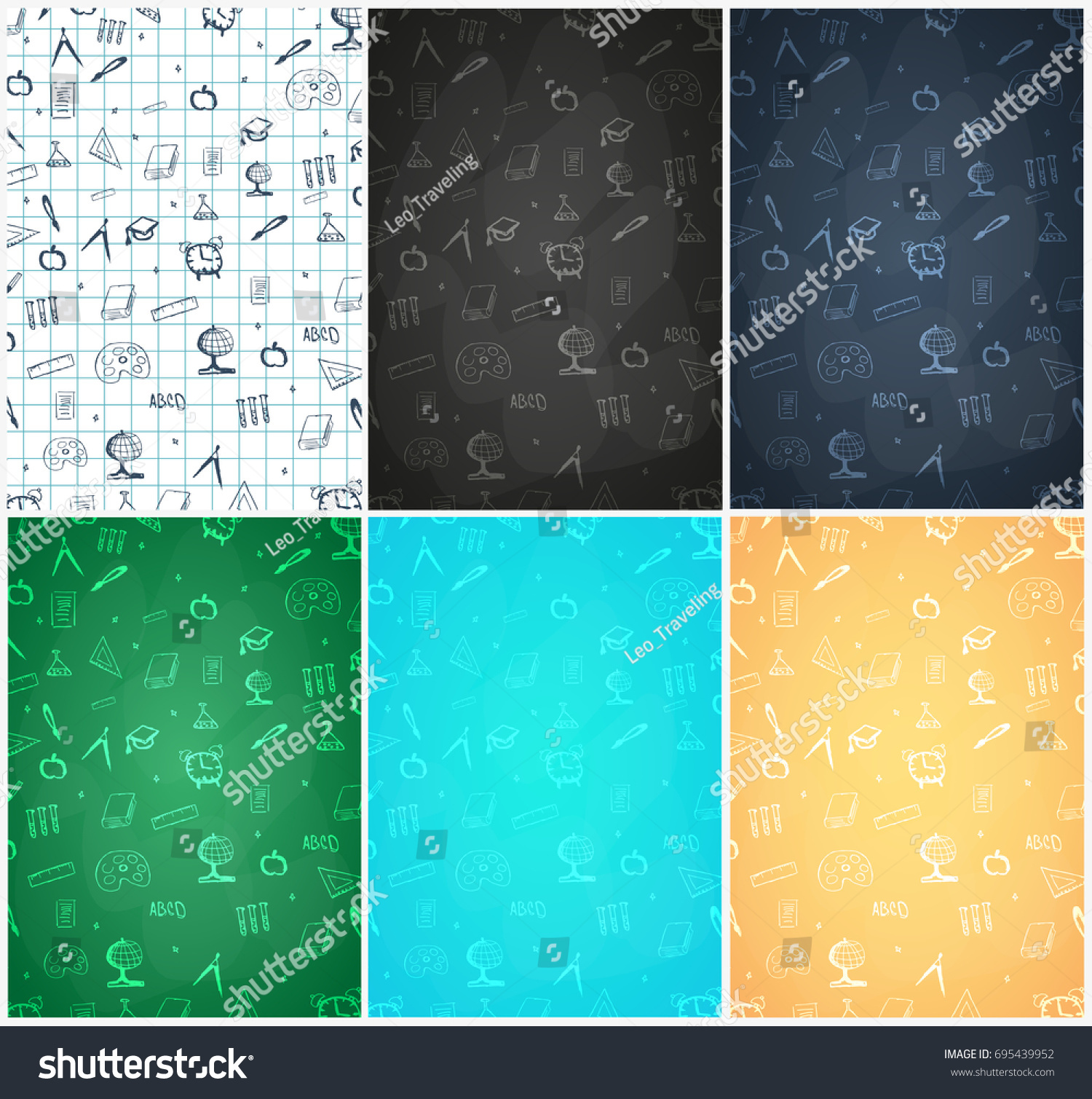 Back School Background Education Banner Vector Stock Vector Royalty Free 695439952