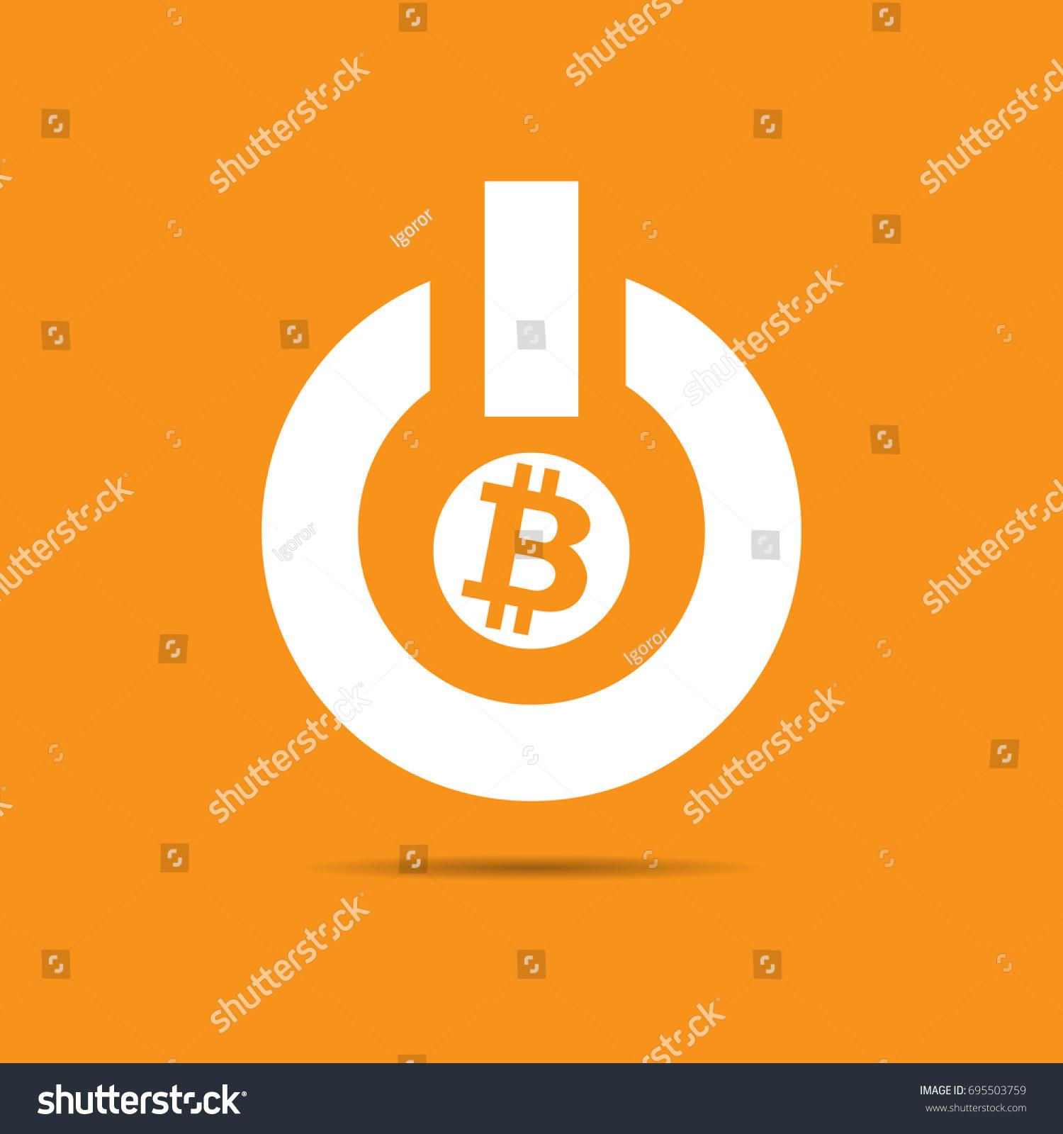 Power On Off Bitcoin Logo Stock Vector 695503759 Shutterstock