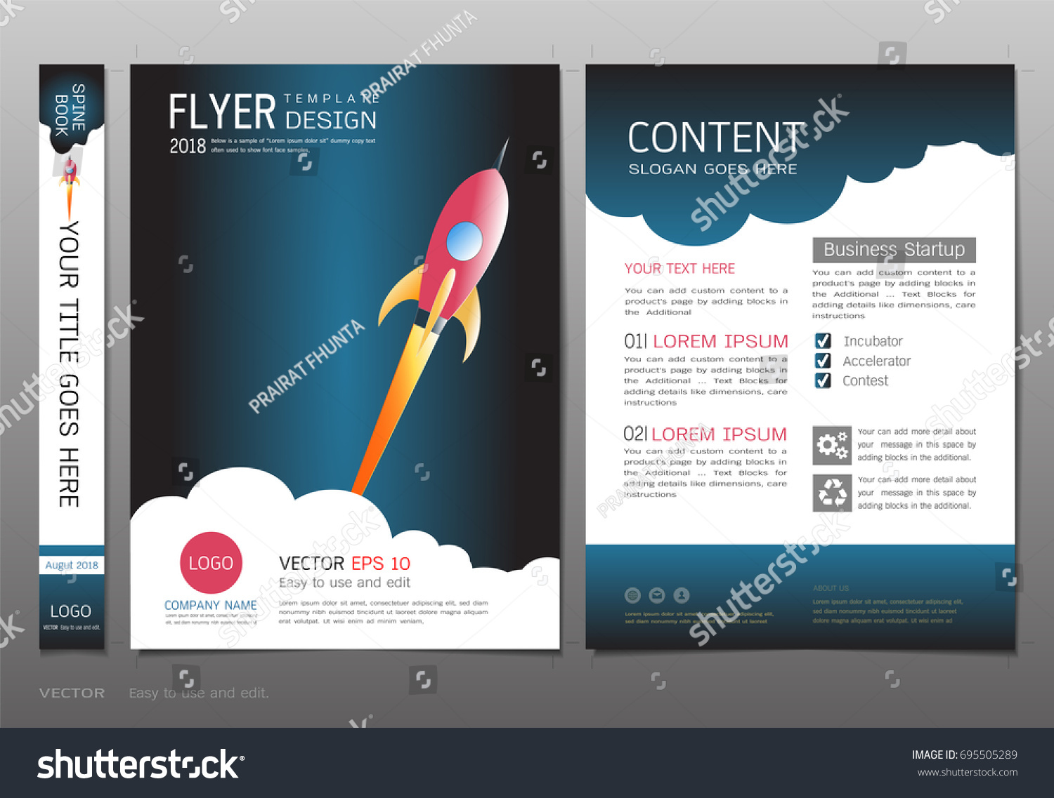 Covers Book Design Template Vector Business Stock Vector