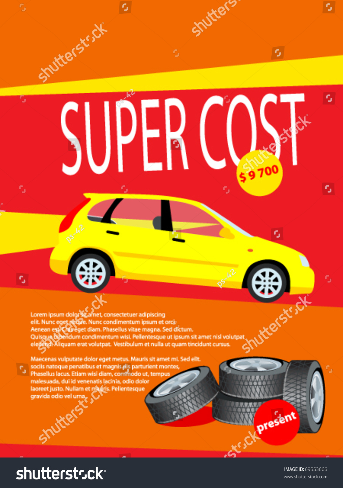 Price for a poster design - Product Poster Design Sale Card Offers Price Vector