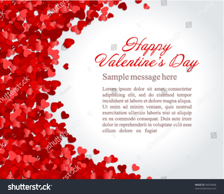 Red Hearts Confetti Valentines Day Wedding Stock-Vektorgrafik ...