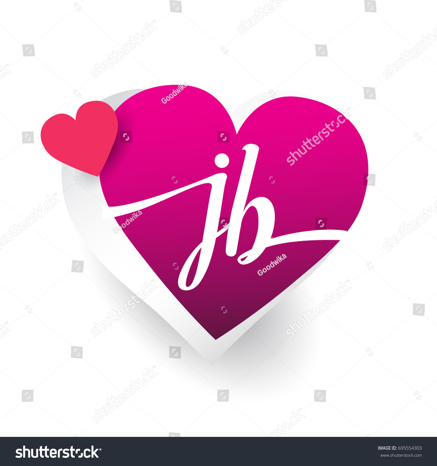 Initial logo letter jb heart shape stock vector royalty free initial logo letter jb with heart shape red colored logo design for wedding invitation stopboris Choice Image